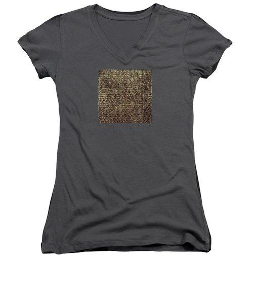 Women's V-Neck T-Shirt featuring the photograph Venetian Babel by Anne Kotan