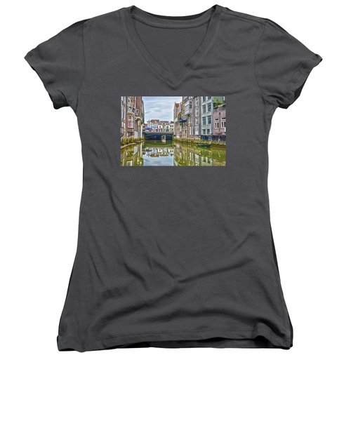 Venetian Vibe In Dordrecht Women's V-Neck (Athletic Fit)