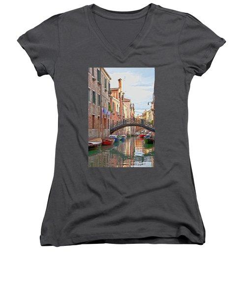 Venice Bridge Crossing 5 Women's V-Neck