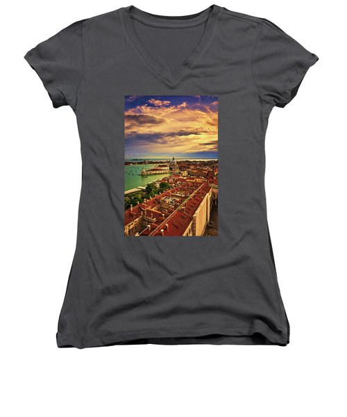 From The Bell Tower In Venice, Italy Women's V-Neck