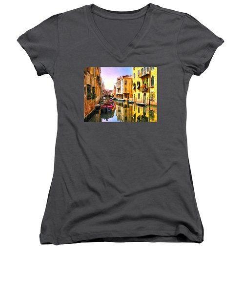 Venice Morning Women's V-Neck