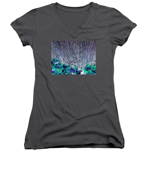 Venus Blue Botanical Women's V-Neck