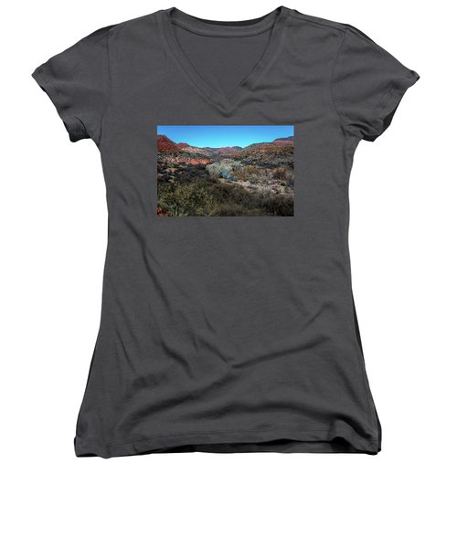 Verde Canyon Oasis Women's V-Neck T-Shirt