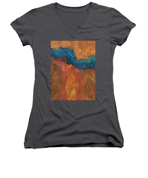Verge Women's V-Neck T-Shirt (Junior Cut) by The Art Of JudiLynn