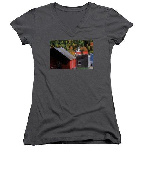 Vermont Again Women's V-Neck T-Shirt