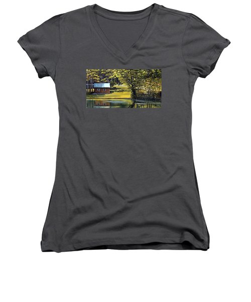 Vermont Greens Women's V-Neck (Athletic Fit)