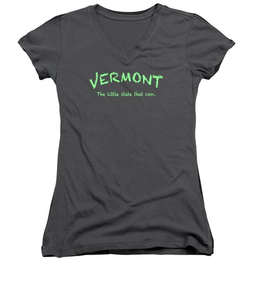 Vermont Little State Women's V-Neck T-Shirt (Junior Cut) by George Robinson