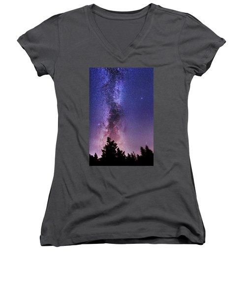 Vertical Milky Way Women's V-Neck