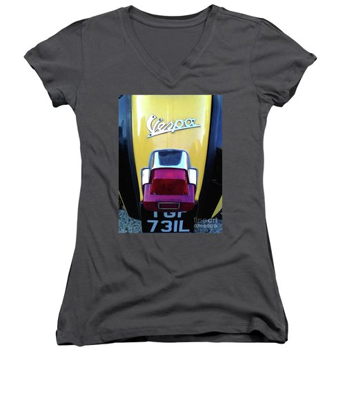 Vespa Style Women's V-Neck T-Shirt