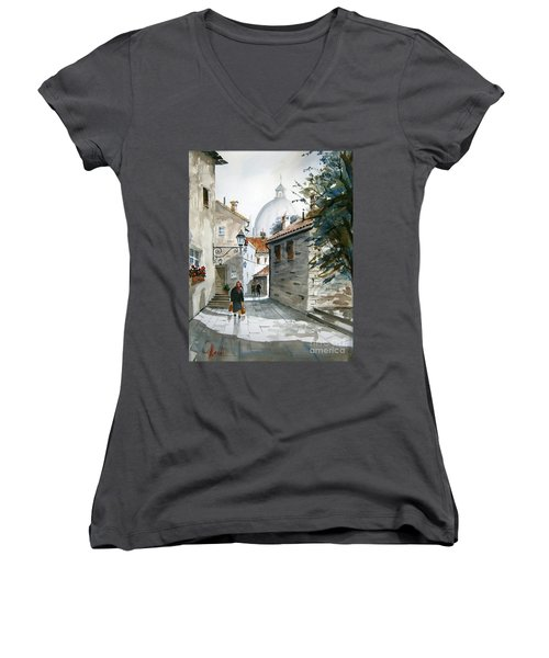 Via Coronari Women's V-Neck T-Shirt