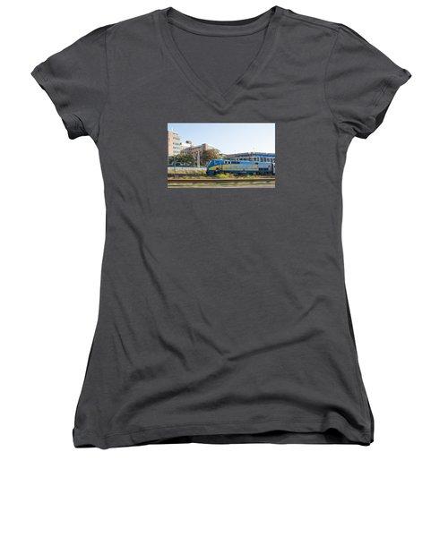 Via Rail Toronto Ontario Women's V-Neck T-Shirt