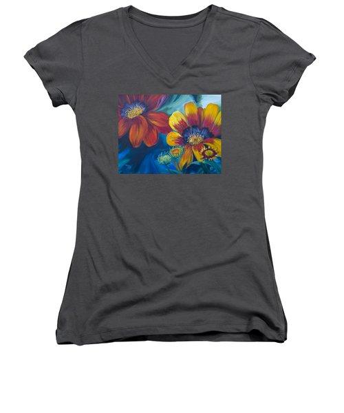 Vibrant Women's V-Neck T-Shirt