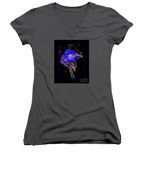 Vibrant Orchid Women's V-Neck T-Shirt