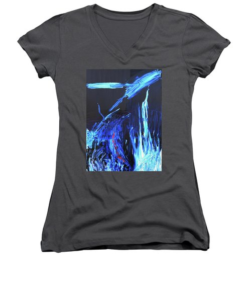 Vibrations Women's V-Neck T-Shirt (Junior Cut) by Ania M Milo
