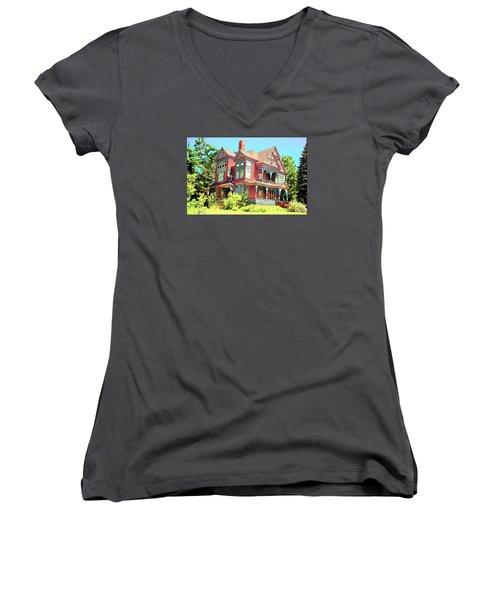 Victorian Women's V-Neck T-Shirt (Junior Cut) by John Schneider