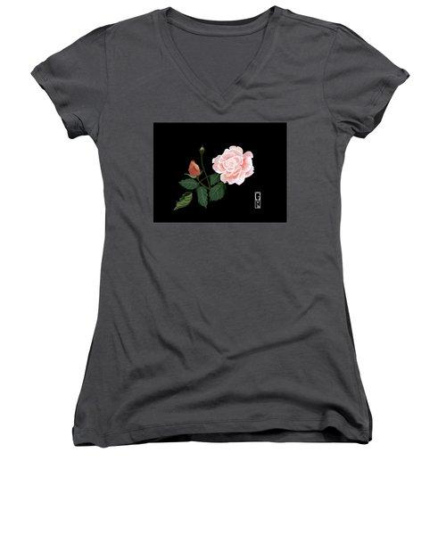 Victorian Rose Women's V-Neck