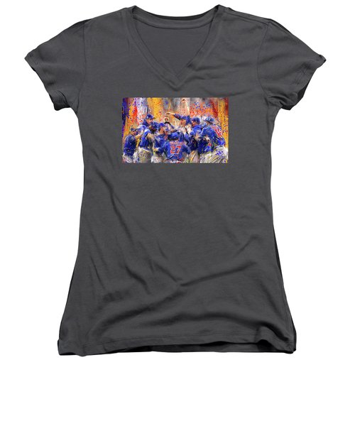 Victory At Last - Cubs 2016 World Series Champions Women's V-Neck