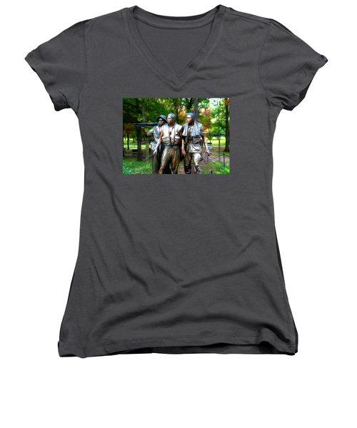 Viet Nam Memorial Women's V-Neck T-Shirt