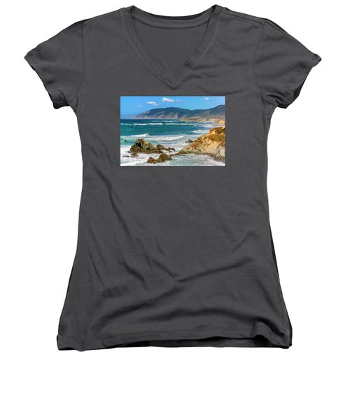 View From Abalone Point Women's V-Neck