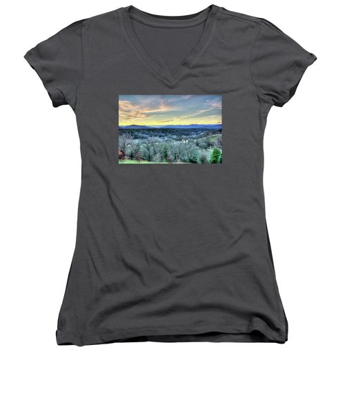 View From Biltmore Women's V-Neck T-Shirt (Junior Cut) by Wade Brooks