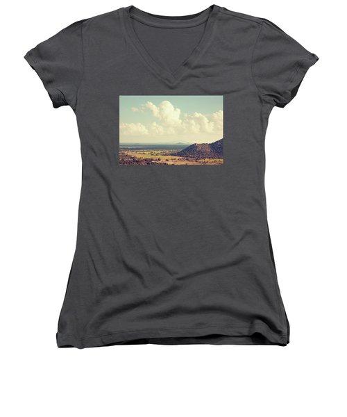 View From Mihintale Women's V-Neck T-Shirt (Junior Cut) by Joseph Westrupp