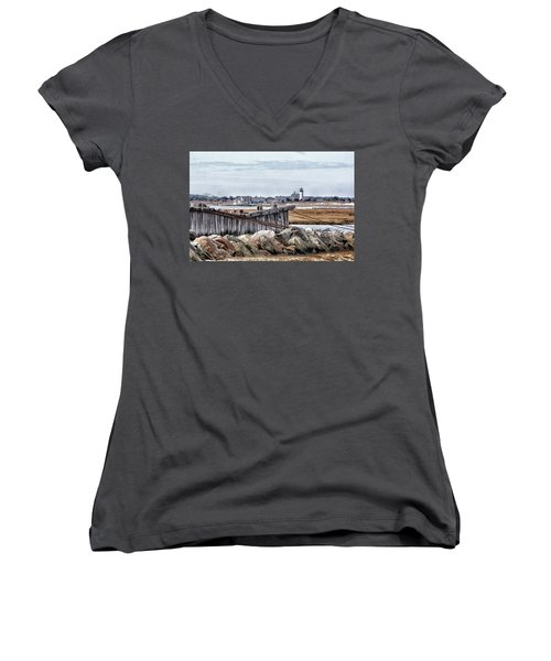 View From Mill Creek - Cold Women's V-Neck T-Shirt
