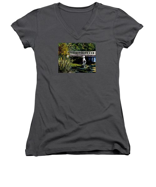 View From Phillips' Park Women's V-Neck T-Shirt