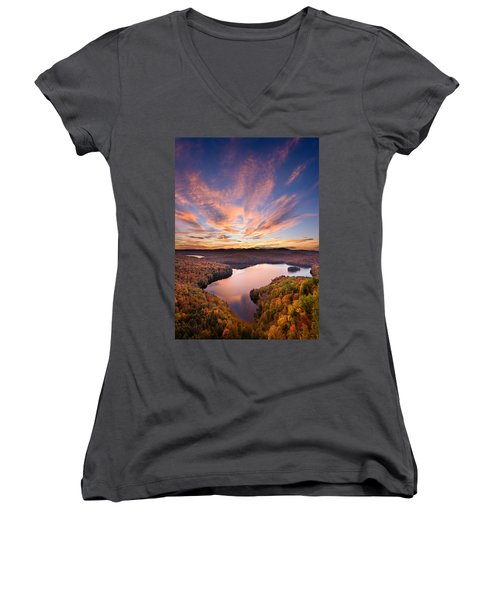 View From The Ledge Women's V-Neck