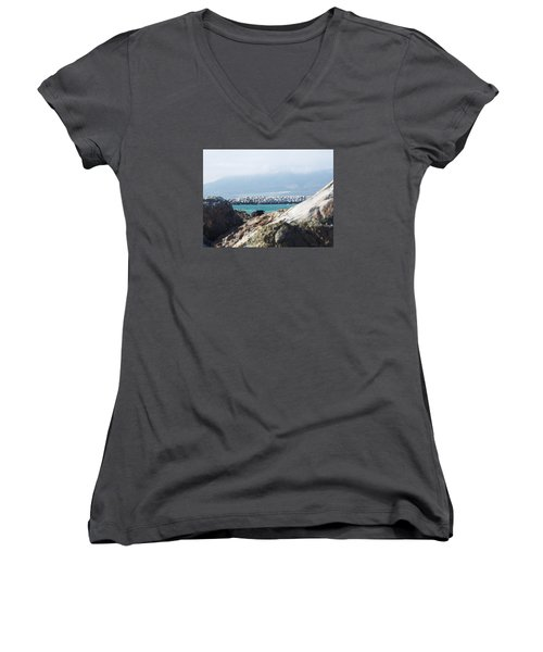 View Of The Inlet Women's V-Neck T-Shirt
