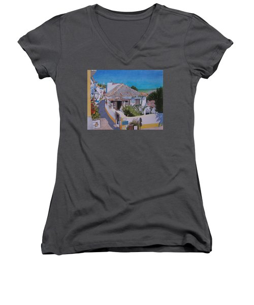 View On Obidos Women's V-Neck (Athletic Fit)