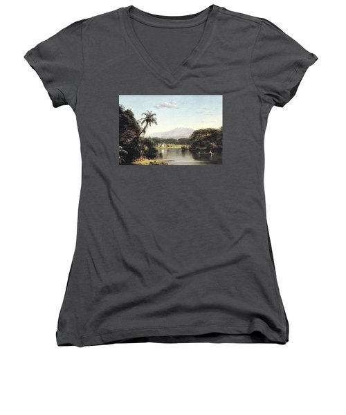 View On The Magdalena River Women's V-Neck