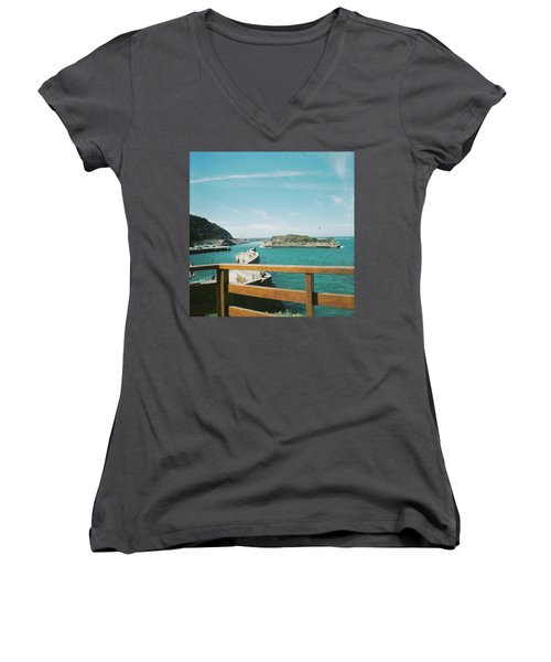 View Over The Ocean Port Women's V-Neck (Athletic Fit)