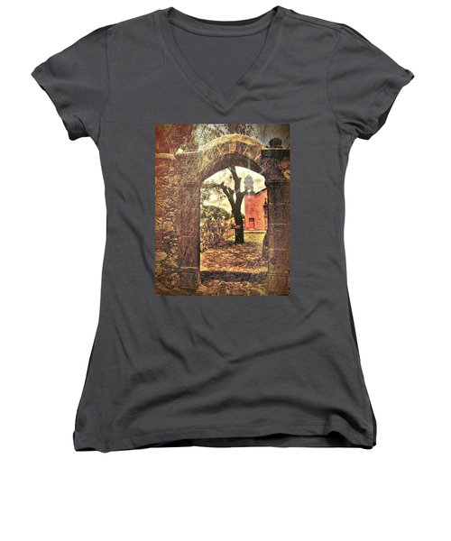 View To The Past Women's V-Neck (Athletic Fit)