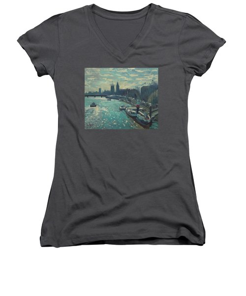 View To Westminster London Women's V-Neck (Athletic Fit)