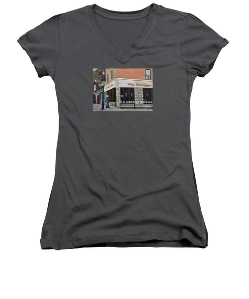 Villa Wellington In Verdun Women's V-Neck T-Shirt