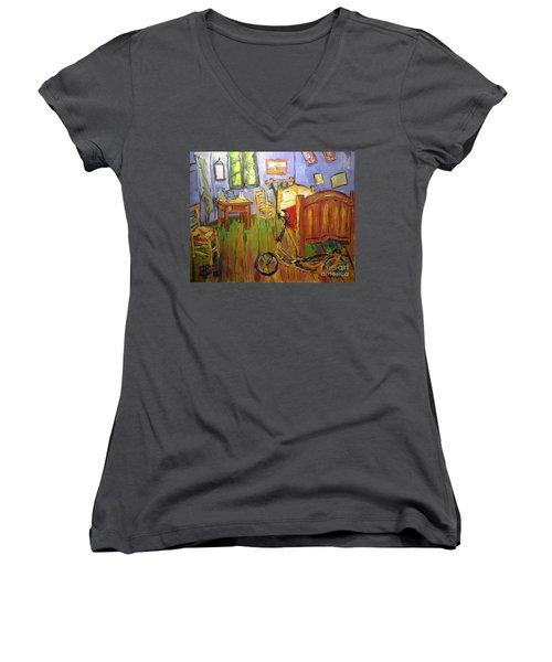 Vincent Van Go's Bedroom Women's V-Neck T-Shirt