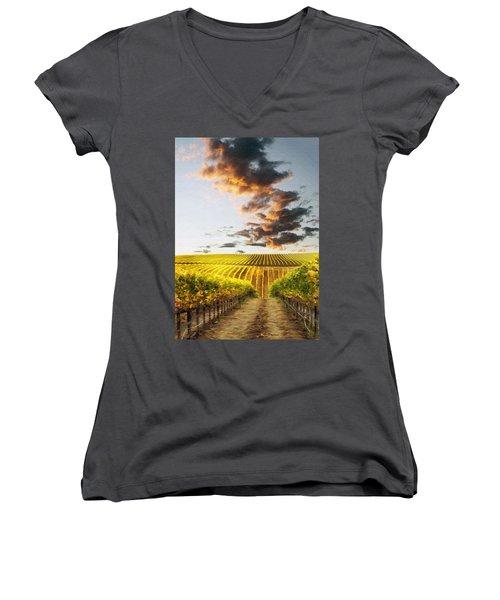 Vineard Aglow Women's V-Neck T-Shirt