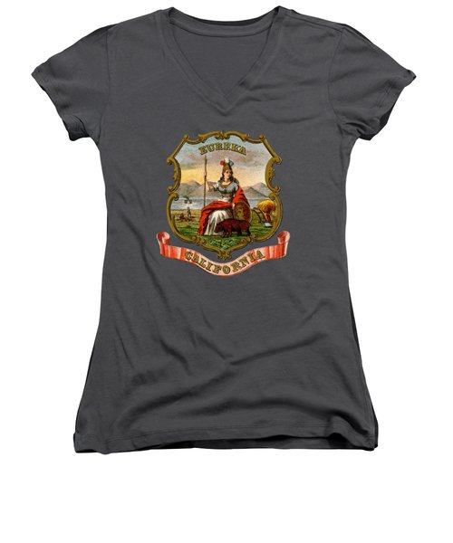 Vintage California Coat Of Arms Women's V-Neck