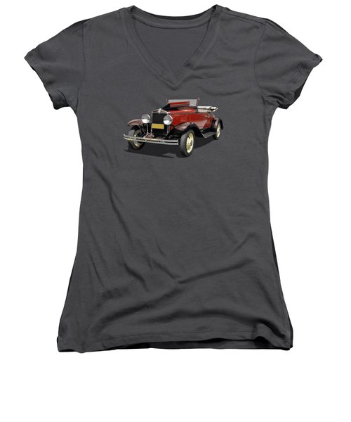 Vintage Classic Car Coupe Women's V-Neck (Athletic Fit)