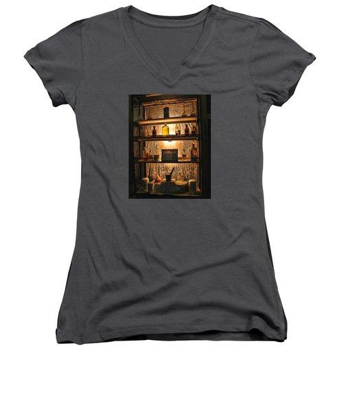 Vintage Medicine Cabinet Women's V-Neck T-Shirt