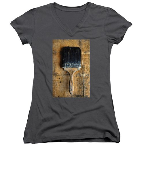 Vintage Paint Brush Women's V-Neck T-Shirt