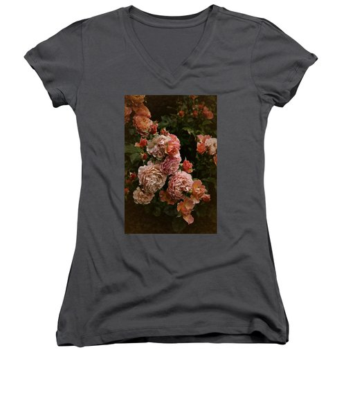 Vintage Roses, 6.17 Women's V-Neck T-Shirt