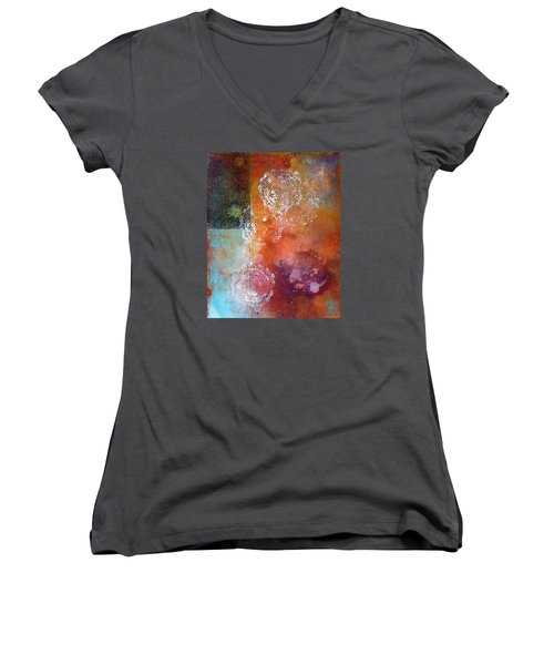 Vintage Women's V-Neck T-Shirt (Junior Cut) by Theresa Marie Johnson