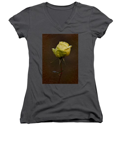 Vintage Yellow Rose 2018 Women's V-Neck (Athletic Fit)