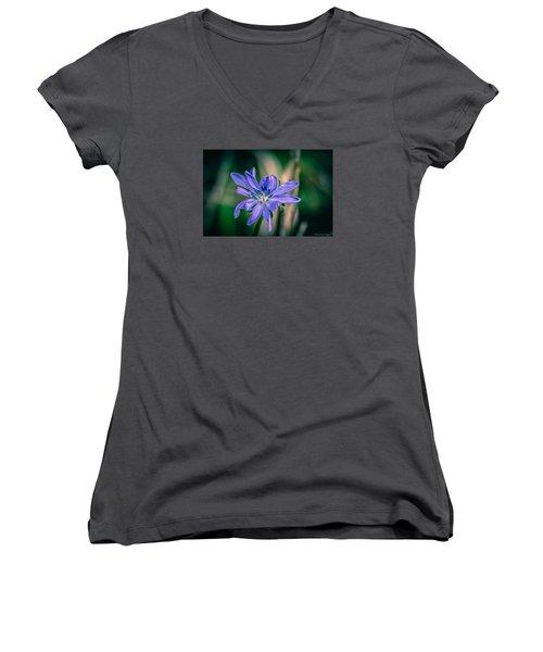 Violet Women's V-Neck T-Shirt (Junior Cut) by Michaela Preston
