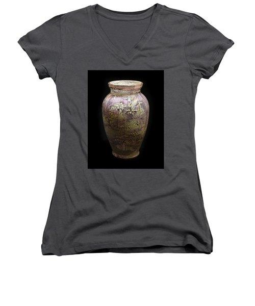 Violet Vase Women's V-Neck T-Shirt (Junior Cut)