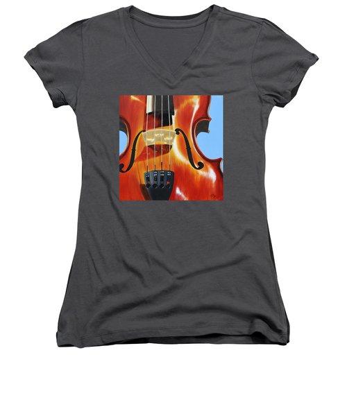Violin Women's V-Neck