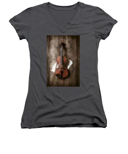Violin Women's V-Neck T-Shirt