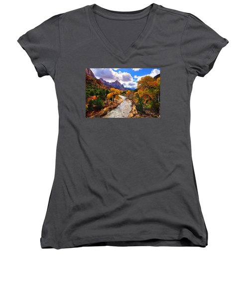 Virgin River Autumn Women's V-Neck