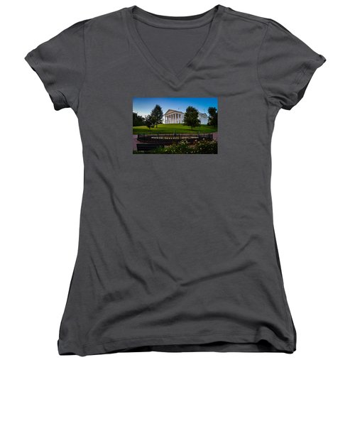 Virginia Capitol Building Women's V-Neck (Athletic Fit)